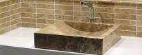 plan vasque en pierre + mosaïc