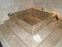 baignoire en plaquage marbre