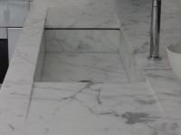 Evier marbre blanc statuaire