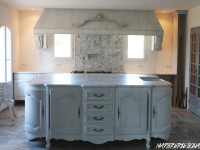 plan de cuisine marbre blanc carrare ilot centrale