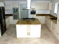 plan de travail cuisine + ilot centrale avec cuisson marbrerie bonaldi le muy