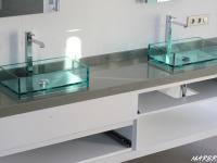 plan de vasque en pierre quartzite grise poli marbrerie bonaldi le muy var