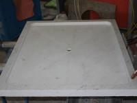 bac a douche taillé dans la masse en marbre blanc carrare