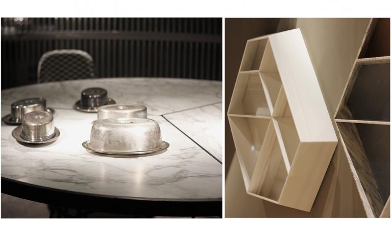 table en marbre etagère murale en blanc carrare marbrerie bonaldi